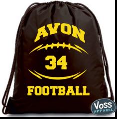 AJAA or Avon Football Skeleton Drawstring Backpack