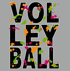 Volleyball Color Splatter Tee
