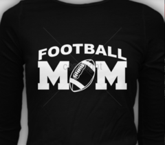 Football MOM-White Design Tee