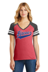 Havoc Baseball District Made Ladies Game V-Neck Script Print