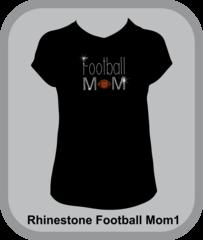 Football Mom Rhinestone Design Tee