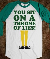 You Sit On A Throne Of Lies Christmas Tee