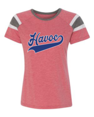 Havoc Baseball Augusta Ladies Fanatic Tee Script Print