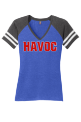 Havoc Baseball District Made Ladies Game V-Neck Regular Print