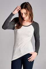 VB-Long Sleeve Baseball Tee