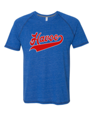Havoc Baseball AllSport Tri-Blend Raglan Tee Script Print