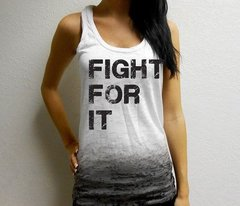 FIGHT FOR IT Ombre Burnout Workout Tank (Fitted)