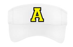 """Avon ST Embroidered Letter """"A"""" Visor-White"""