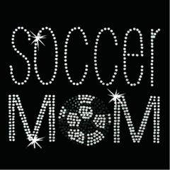Soccer Mom Simple-Arial Rhinestone Tee, Tank, Long Sleeve, Hoodie
