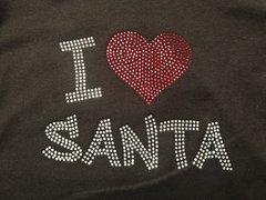 I Heart Santa Rhinestone Design Tee