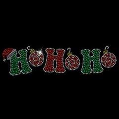 Ho Ho Ho Rhinestone Design Tee