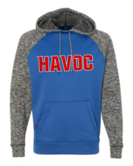 Havoc Baseball J. America-Colorblock Cosmic Fleece Hooded Sweatshirt-Regular Print