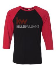 Keller Williams Rhinestone Raglan 3/4 Sleeve Tri-Blend