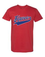 Havoc Baseball Unisex Tee Script Print