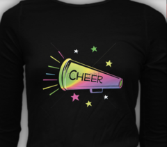 Colorful Megaphone Cheer Tee