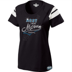 ACST Swim Mom Tail Rhinestone Design - Holloway Ladies Tribute Tee