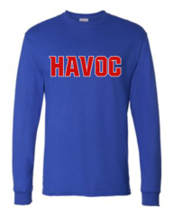 Havoc Baseball Hanes-Long Sleeve Regular Print