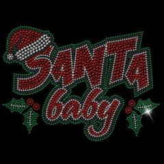 Santa Baby Rhinestone Design Tee