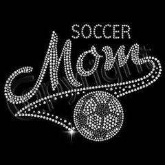 Soccer Mom Script Rhinestone Tee, Tank, Long Sleeve, Hoodie