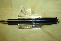 Handcrafted Wooden Pen - African Ebony Round Top Twist Pen in a Beautiful Chrome Finish