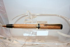 Handcrafted Wooden Pen - Beech Double Twist Classic Pen in a BrightGold Finish