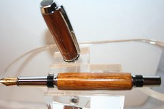 Handcrafted Wooden Pen - Baron Fountain Pen in Desert Ironwood Finished in Bright Chrome