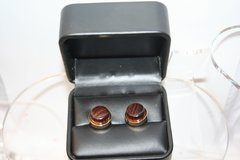 Handcrafted Granadillo Hardwood 24 ct Gold Plated Cuff Links