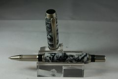 Handcrafted Acrylic Pen - Baron Roller Ball Pen in a Fantastic ZEN Acrylic Finished in Beautiful Satin Nickel