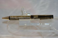 Handcrafted Wooden Pen - Tropical Banyan Bowtie Twist Pen in a Beautiful Gold/Black Chrome Finish