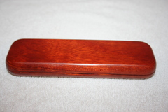 Handcrafted Wooden Box Rosewood Double Pen Box