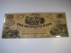 1870s 50 The Mustang Bank - ad scrip