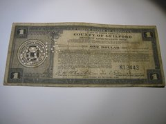 1933 $1 Guilford Co. Tax Anticipation Note