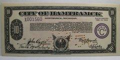 1934, Feb 15, Series C, $10 City of Hamtramck