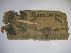 1874-75 50c 5th Issue FR 1380 Poor