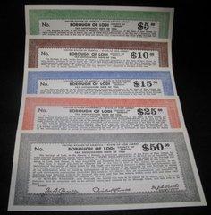 1936 set of Lodi, NJ Tax Anticipation Notes