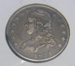 1834 Bust Half, VF35,