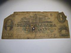 1863 $1 State of Alabama