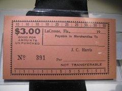 1933 $3 JC Harris LaCrosse, FL