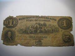 1859 $1 Merchants & Planters Bank, Savannah