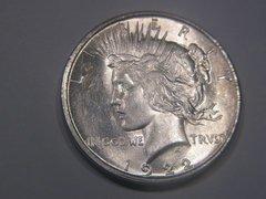 1922D Peace Dollar, BU63