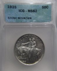 1925 Stone Mountain 50C ICG-MS62 Nice coin SOLD