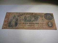 1858 $10 The Danville Bank
