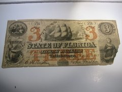 1863 $3 State of Florida