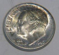1946D Roosevelt 10c MS65 FT