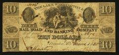 1837 $10 Lake Washington & Deer Creek Railroad, R6 notes