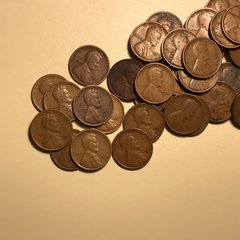1920's mixed date/Mintmark Wheat cent roll