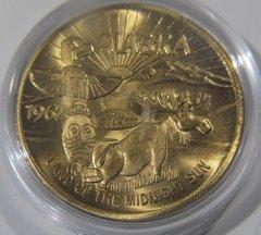 1962 $1 See Alaska Good For Token -Moose, Totem Pole Gem