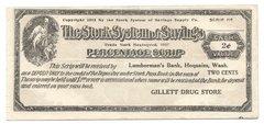 1912/17 2c Stork System of Savings, Hoquiam, WA RARE