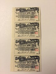 1898 Northern Electric Company $15 Bond Interest Coupons, Berlin NH