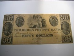 1836-47 $50 Berks County Bank, Reading